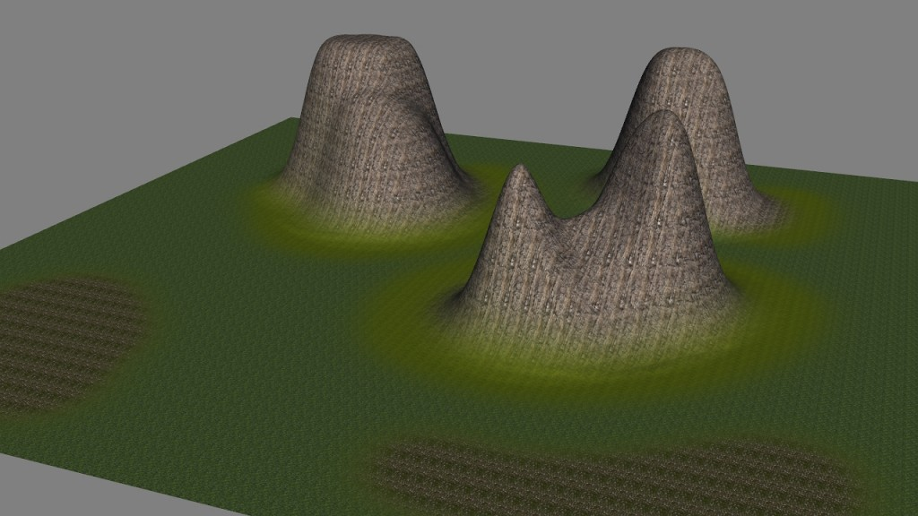 Adj Pinnacle material Map applied to Butt terrain