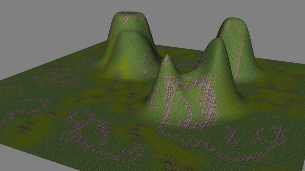 Pinnacle height map applied to Butt terrain