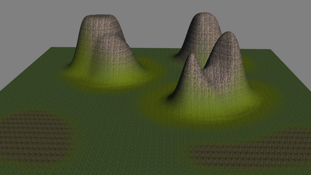 Pinnacle material Map applied to Butt terrain