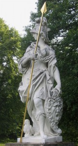 A statue of Minerva somewhere in Germany.