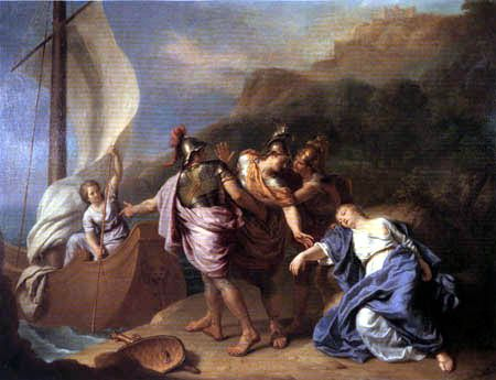 Ariadne being abandoned on Naxos.
