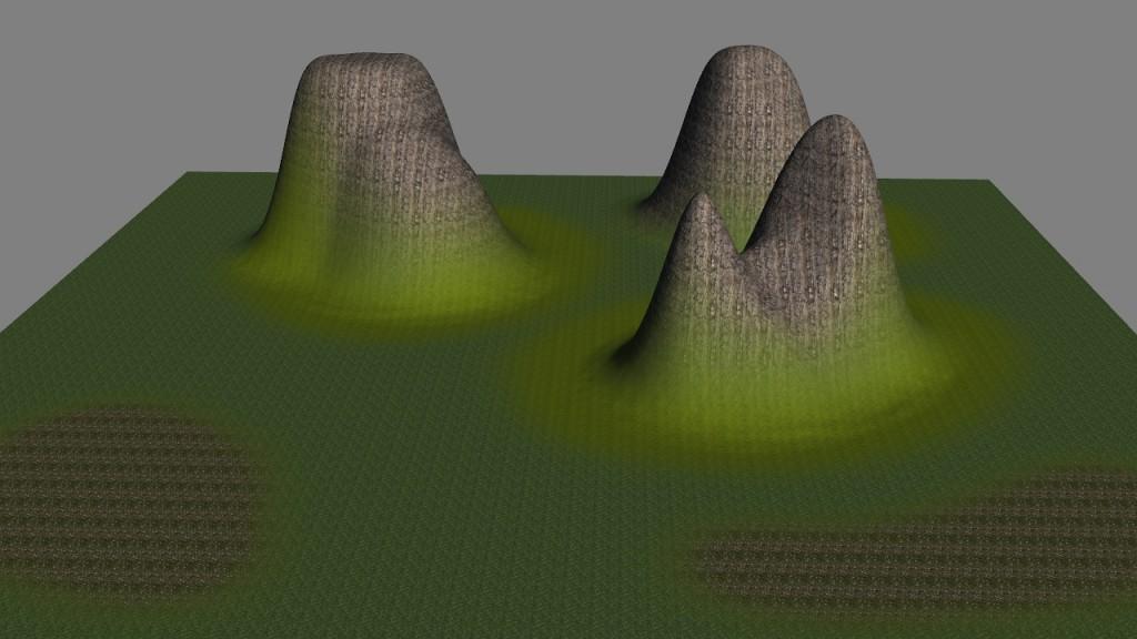 Pinnacle material Map applied to Butt terrain