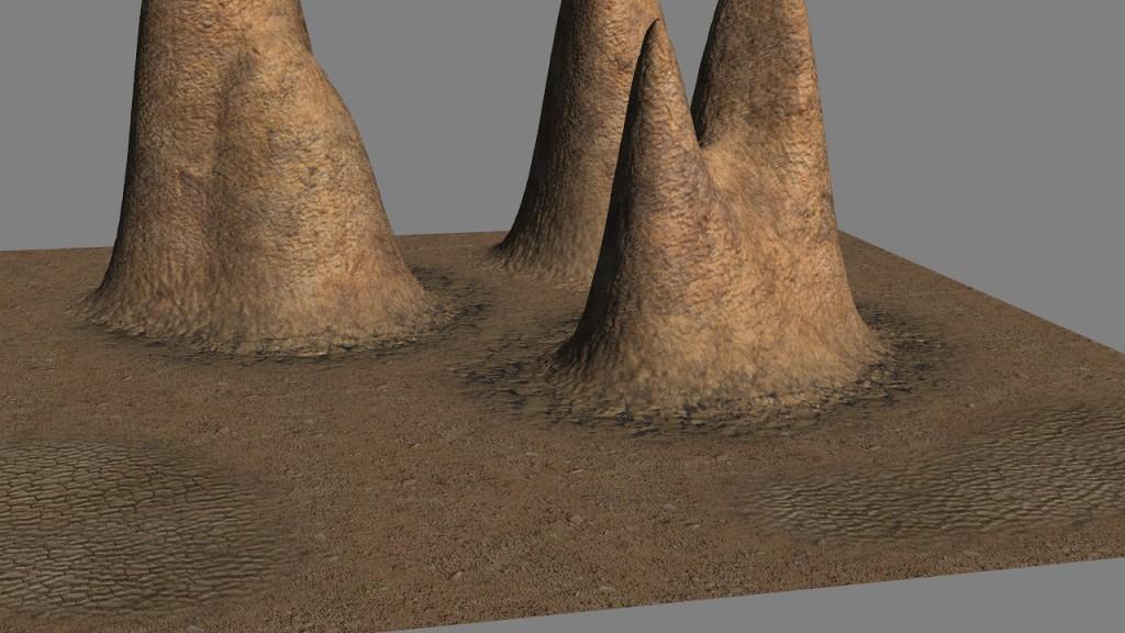 Terxtured pinnacles