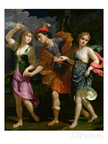 Theseus with Ariadne and Phaedra, obviously looking for trouble.